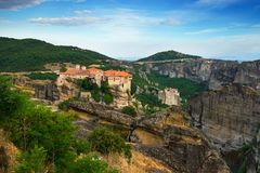 Monastery of Varlaam, Meteora, Greece stock image