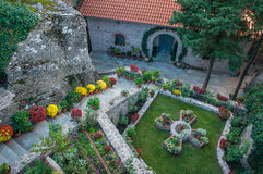 Monastery of Varvara Rusanov in Meteora, Greece Royalty Free Stock Images