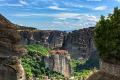 Monastery of Varvara Rusanov, Meteora, Greece Royalty Free Stock Image