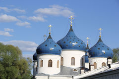 Monastery in Velikiy Novgorod Stock Photo