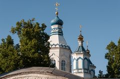 Monastery - view of the dome against the blue sky royalty free stock photos