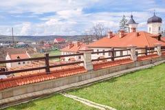Monastery Of Village Capriana Stock Photo