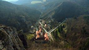 Monastery in village Svaty Jan pod Skalou stock photography