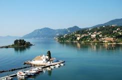 Monastery Vlahelna on Corfu Island, Greece Stock Photography