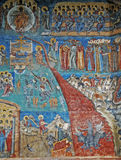 The Monastery Voronet. Details of painted exterior walls. Stock Photography