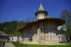 The Monastery Voronet is one of Romanian painted Orthodox monast Royalty Free Stock Photos