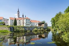 Monastery at Vyssi Brod, Czech Republic Royalty Free Stock Image