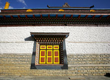Monastery wall and window, upper pisang Stock Photography