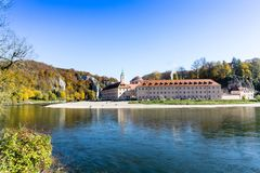 Monastery Weltenburg on the Danube in Bavaria at the Danube Gorge Germany stock images