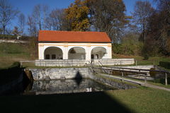 Monastery Wessobrunn. In Upper Bavaria with the Titian Source Royalty Free Stock Photography