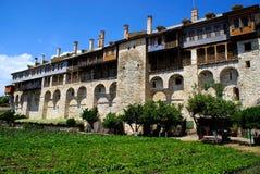 Monastery Xenofontos on Mount Atho Royalty Free Stock Photo