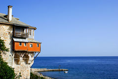 Monastery Xenofontos on Mount Athos Stock Photography