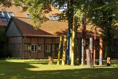 Monastery Yard in Rehna Royalty Free Stock Image