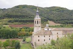 Monastery of Yuso, in San Millan de la Cogolla, La Rioja, Spain. UNESCO World Heritage Site since 1997 Royalty Free Stock Photography