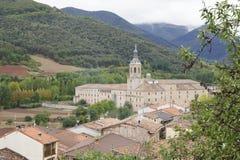 Monastery of Yuso, in San Millan de la Cogolla, La Rioja, Spain. UNESCO World Heritage Site since 1997 Stock Photos