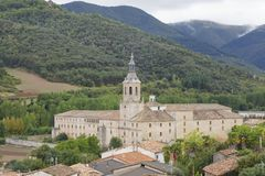 Monastery of Yuso, in San Millan de la Cogolla, La Rioja, Spain. UNESCO World Heritage Site since 1997 Royalty Free Stock Photo