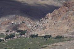 Monastery in Zanskar. Ancient monastery near Padum the capital of Zanskar royalty free stock image