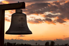 Monastery, zosin, Romania. - The bell. Stock Photo