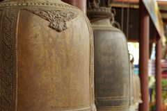Monastic bell made from the brass material 2 Royalty Free Stock Photography