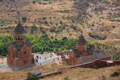 The monastic complex Noravank stock photo