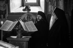 Free Monastic Life Of The Hermit Old Monks In The Orthodox Church In Roumania , Priest Praying In  Solitude Royalty Free Stock Image - 180963816