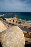 Monastir tunisia the old wall castle Stock Photo