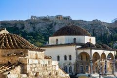 Monastiraki and Acropolis Royalty Free Stock Image