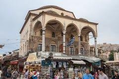 Monastiraki Atene quadrata Fotografia Stock