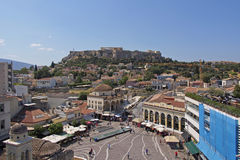 Monastiraki famous square, Athens Greece Royalty Free Stock Photography