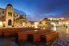 Monastiraki fyrkant, Aten royaltyfria bilder