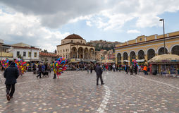 Monastiraki Quadrat, Athen, Griechenland Stockfotos