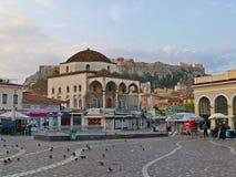 Monastiraki kwadrat zdjęcie royalty free