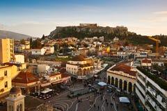 Monastiraki kwadrat, Ateny zdjęcia royalty free
