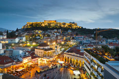 Monastiraki kwadrat, Ateny fotografia royalty free
