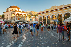 Monastiraki kwadrat, Ateny obrazy royalty free