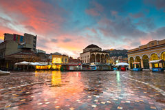 Monastiraki square, Athens. Royalty Free Stock Images