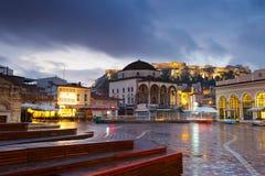 Monastiraki square, Athens. Stock Images