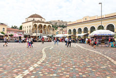 Monastiraki Square in Athens, Greece Royalty Free Stock Image