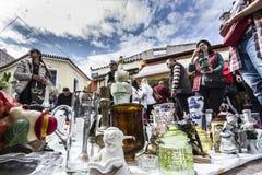 Monastiraki Sunday Flea market Stock Photo