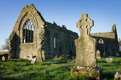 Monastère dominicain d'Athenry avec le cimetière Images stock