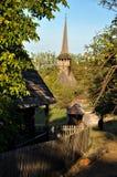 Monastère en bois orthodoxe Images libres de droits