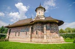 Monastério ortodoxo de Humorului na região de Moldávia de Romênia Fotografia de Stock
