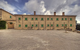 Monastry. Monestr historic building and cort yard Stock Image