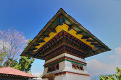 Monastry architecture, Sillery Gaon, Sikkim. Monastery architecture, Sillery Gaon village , Sikkim Royalty Free Stock Image