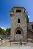 Monastry d'architecture de bâtiments historiques de Rhodos Grèce de filerimos Photos stock