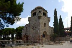 Monastry de belfre de tour de Bell de bâtiments historiques de Rhodos Grèce de filerimos Images stock