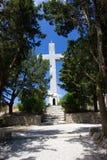 Monastry de crucifix de croix de Rhodos Grèce de filerimos Image stock