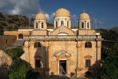 Monastry. Facade of holy trinity monastry of tzagarola Stock Image
