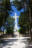Monastry of filerimos Rhodos Greece cross crucifix stock image
