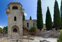 Monastry of filerimos Rhodos Greece royalty free stock photography